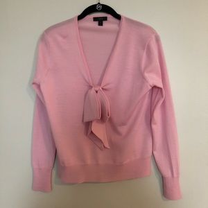 JCrew pink bow sweater